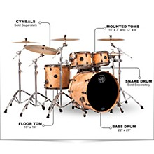 Saturn V Exotic Edition 4-Piece Rock Shell Pack Natural Maple Burl