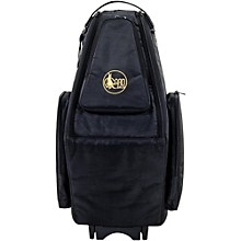 Saxophone Wheelie Bag in Synthetic with Leather Trim Fits Both Tenor and Soprano