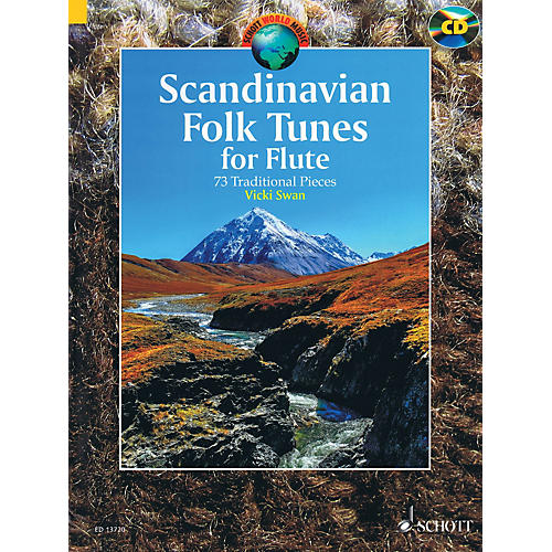 Schott Scandinavian Folk Tunes for Flute (73 Traditional Pieces) Woodwind Series Softcover with CD