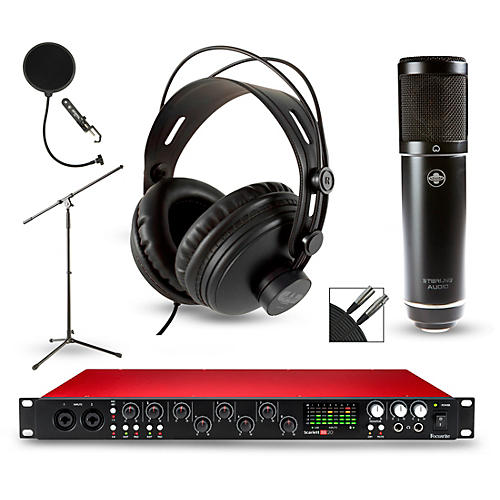 Focusrite Scarlett 18i20 2nd Gen Interface with Sterling ST51 and CAD MH300