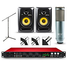 Focusrite Scarlett 18i20 Recording Package with MXL R80 and Rokit RP5G3 Pair