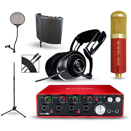 focusrite scarlett 18i8 2nd gen interface with mxl genesis and blue lola guitar center. Black Bedroom Furniture Sets. Home Design Ideas