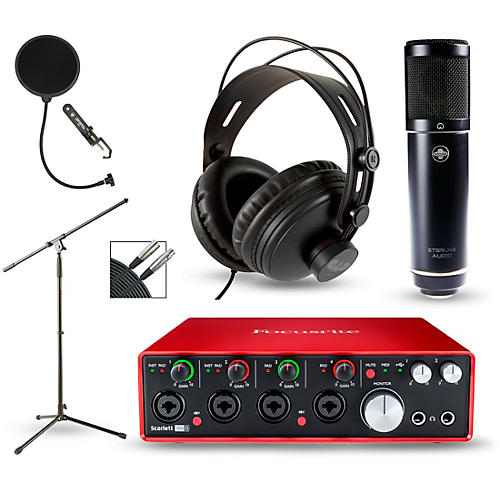 Focusrite Scarlett 18i8 2nd Gen Interface with Sterling ST51 and CAD MH300