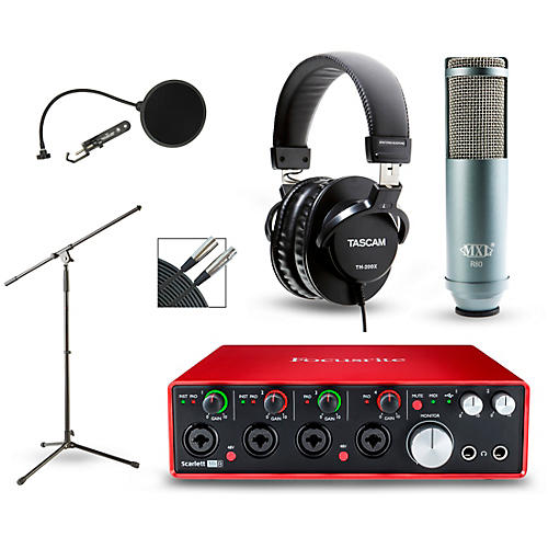 focusrite scarlett 18i8 recording package with r80 ribbon microphone and th 200x headphones. Black Bedroom Furniture Sets. Home Design Ideas