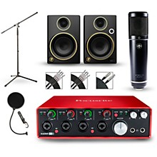 Focusrite Scarlett 18i8 Recording Package with Sterling ST51 and Mackie Limited Edition CR3 Pair