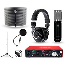 Focusrite Scarlett 2i2 Recording Package with Sterling ST59 and  Audio-Technica ATH-M50X