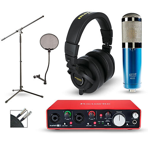 Focusrite Scarlett 2i4 Recording Package with MXL 4000 and Marantz MPH-2