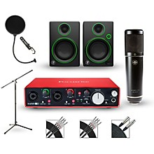 Focusrite Scarlett 2i4 Recording Package with Sterling ST51 and Mackie CR3 Pair