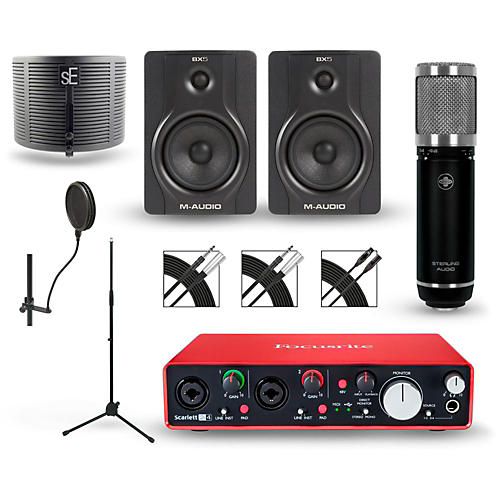 Focusrite Scarlett 2i4 Recording Package With Sterling