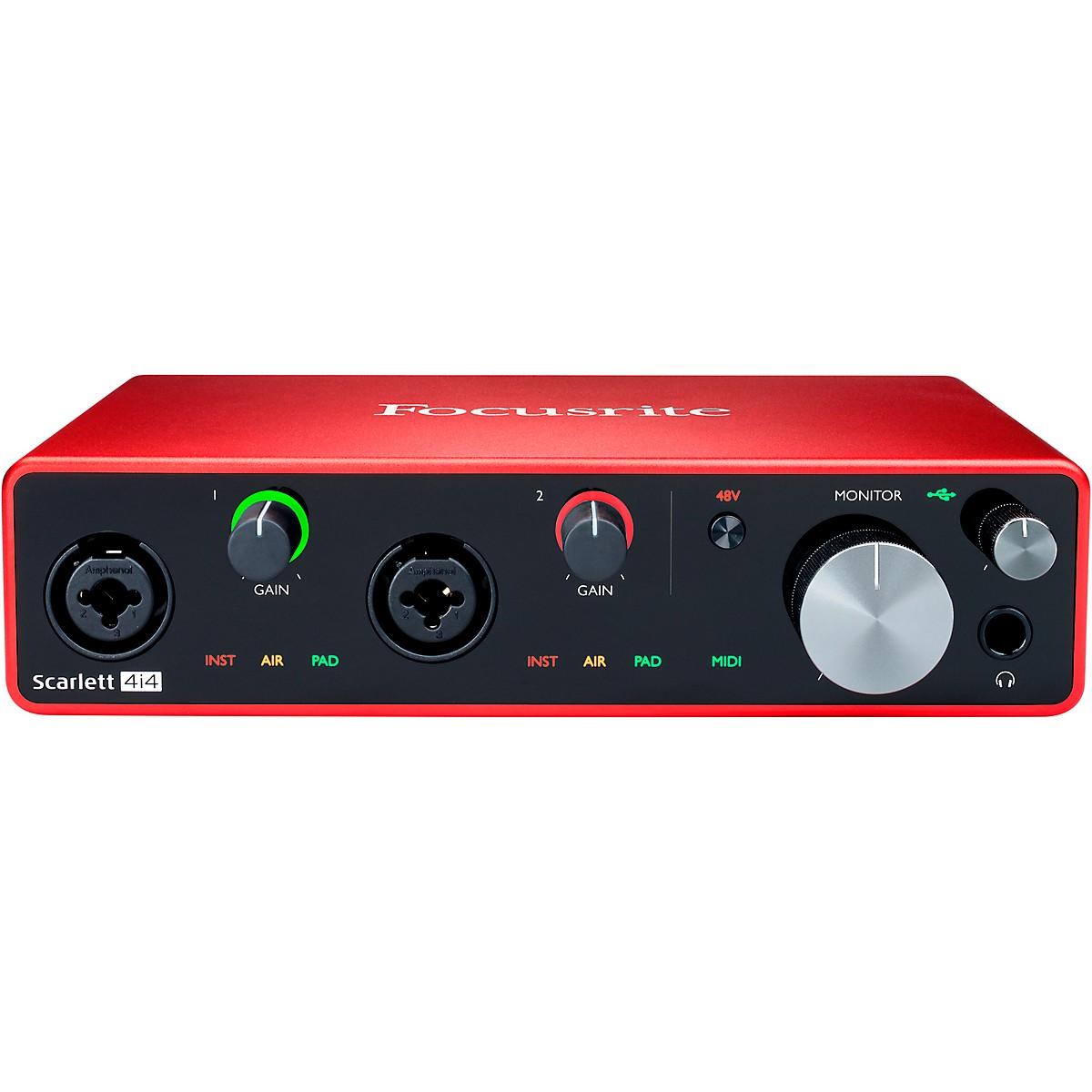 Focusrite Scarlett 4i4 USB Audio Interface (Gen 3)