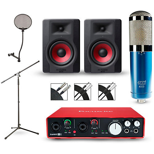 Focusrite Scarlett 6i6 Recording Package with MXL 4000 and M-Audio Limited Edition BX5 Pair