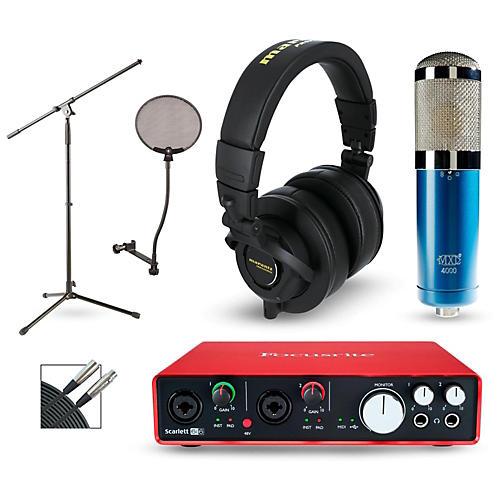 Focusrite Scarlett 6i6 Recording Package with MXL 4000 and Marantz MPH-2
