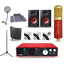 Focusrite Scarlett 6i6 Recording Package with MXL Genesis and M-Audio Limited Edition BX8 Pair