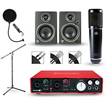 Focusrite Scarlett 6i6 Recording Package with Sterling ST51 and Mackie CR3 Pair