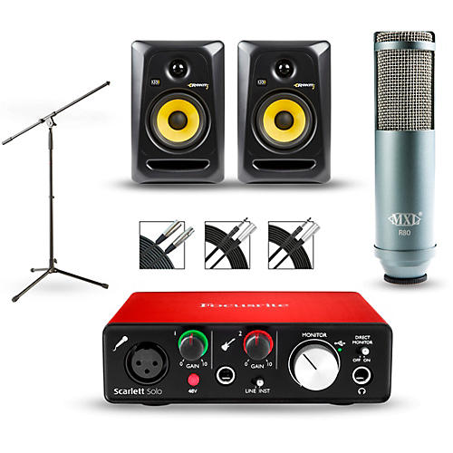 Focusrite Scarlett Solo 2nd Gen Interface With Mxl R80 And