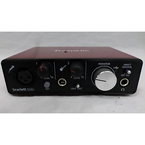 used focusrite scarlett solo audio interface guitar center. Black Bedroom Furniture Sets. Home Design Ideas