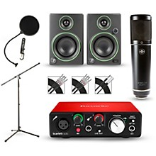 Focusrite Scarlett Solo Recording Package with Sterling ST51 and Mackie CR3 Pair