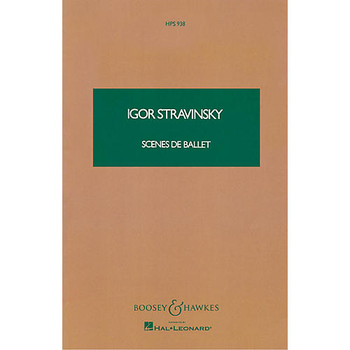 Boosey and Hawkes Scenes de Ballet (Study Score) Boosey & Hawkes Scores/Books Series Composed by Igor Stravinsky