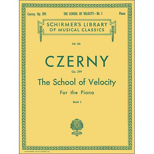 G. Schirmer School Of Velocity Op 299 Book 1 Piano By Czerny