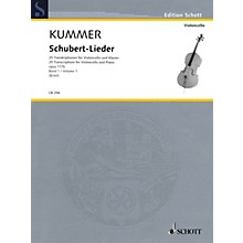 Schott Schubert-Lieder Op. 117b (25 Transcriptions for Cello and Piano - Volume 1) String Series Softcover