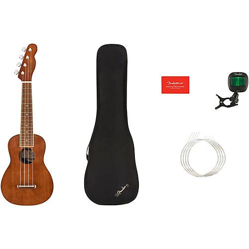 Fender Seaside Soprano Ukulele V2 Walnut Fingerboard
