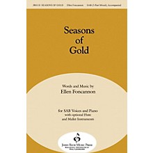 John Rich Music Press Seasons of Gold SAB composed by Ellen Foncannon