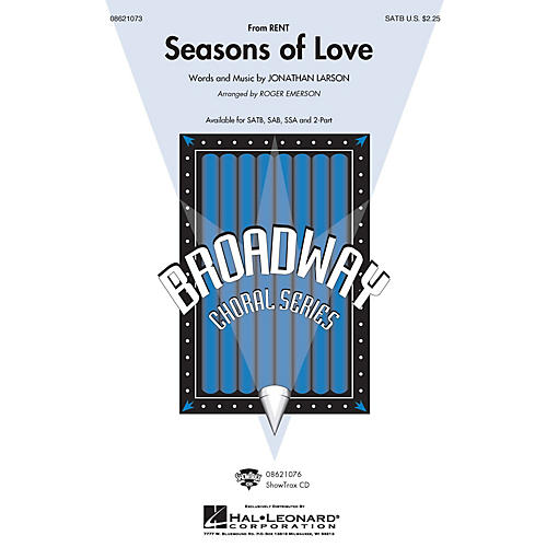 Hal Leonard Seasons of Love (from Rent) (SATB) SATB arranged by Roger Emerson