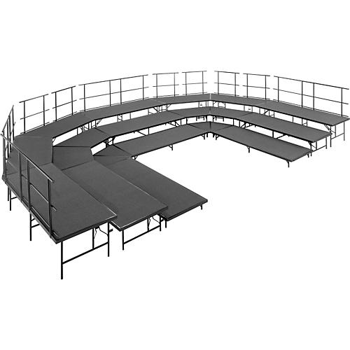 Midwest Folding Products Seated Choral Riser Set Carpet