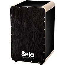 Sela Wave Professional Snare Cajon Black Pearl