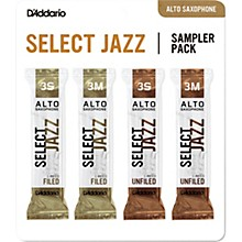 D'Addario Woodwinds Select Jazz Alto Saxophone Reed Sampler Pack