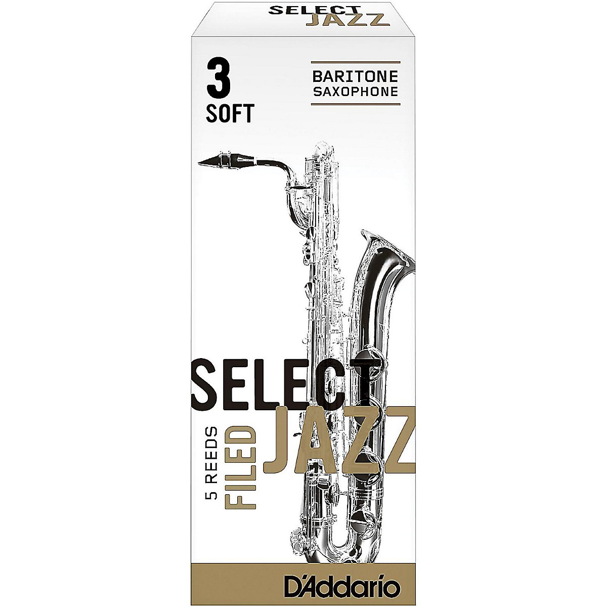 D'Addario Woodwinds Select Jazz Filed Baritone Saxophone Reeds