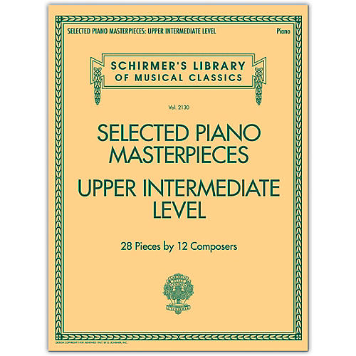 G. Schirmer Selected Piano Masterpieces - Upper Intermediate Level Piano Collection Series Softcover