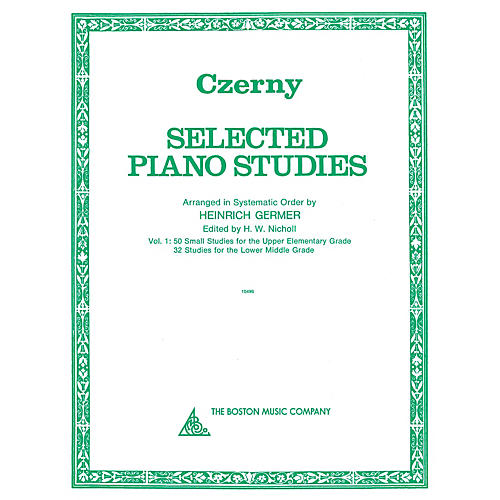 Boston Music Selected Piano Studies - Volume 1 Music Sales America Series Softcover
