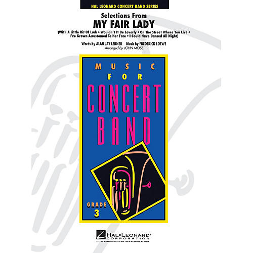 Hal Leonard Selections From My Fair Lady Full Score Concert Band