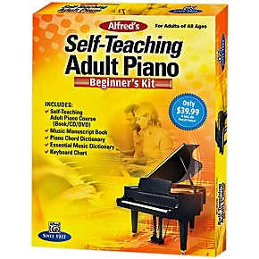alfred self teaching adult piano beginner 39 s kit guitar center. Black Bedroom Furniture Sets. Home Design Ideas