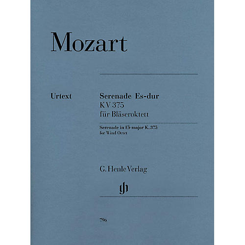 G. Henle Verlag Serenade in E-flat Major,  K. 375 Henle Music Folios Series Softcover Composed by Wolfgang Amadeus Mozart