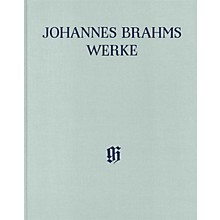 G. Henle Verlag Serenades and Ouvertures - Arrangements for Piano 4-Hands Henle Complete Hardcover by Brahms