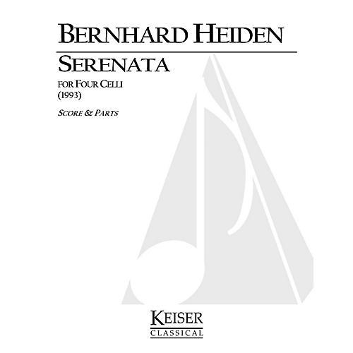 Lauren Keiser Music Publishing Serenata for Four Celli LKM Music Series Composed by Bernhard Heiden