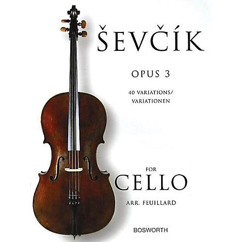 Bosworth Sevcik for Cello - Opus 3 (40 Variations) Music Sales America Series Softcover Written by Otakar Sevcik