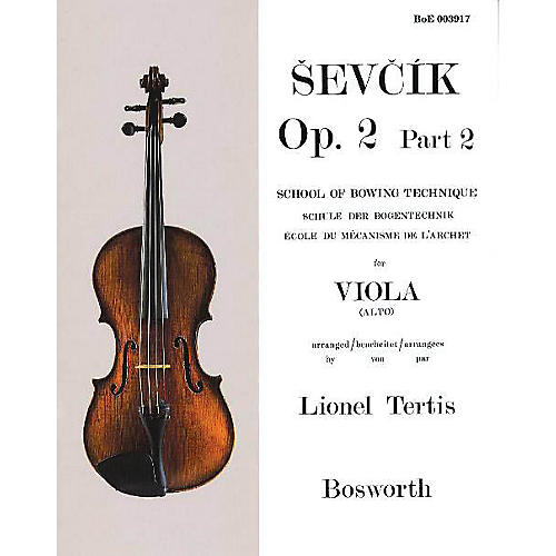 Bosworth Sevcik for Viola - Opus 2, Part 2 Music Sales America Series Written by Otakar Sevcik