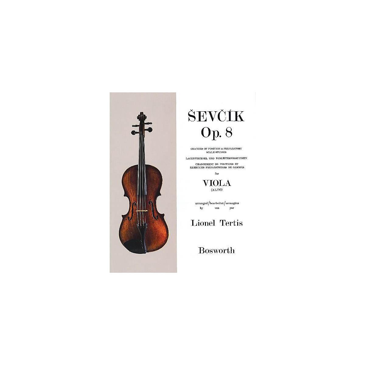 Bosworth Sevcik for Viola - Opus 8 Music Sales America Series Written by Otakar Sevcik