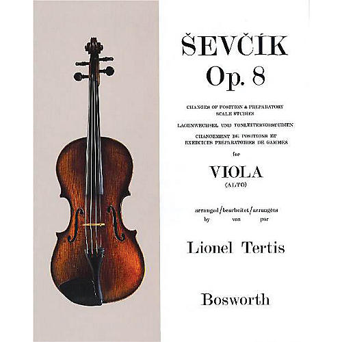 Bosworth Sevcik for Viola - Opus 8 Music Sales America Series Written by Otakar Sevcik