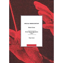 Chester Music Seven Pierrot Miniatures (Chamber Ensemble) Music Sales America Series Softcover by Helen Grime