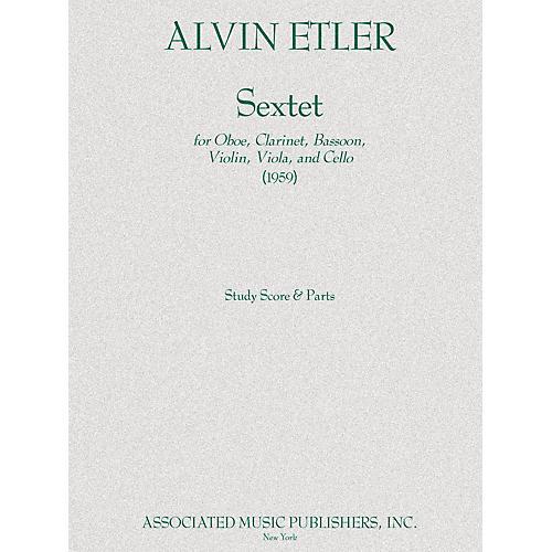 Associated Sextet Ob/bn/vn/va/vc Parts 1959 Ensemble Series by Alvin Etler