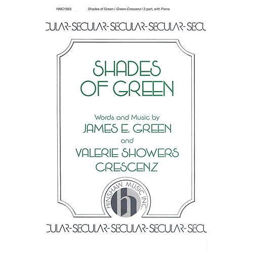 Hinshaw Music Shades of Green SA composed by James Green