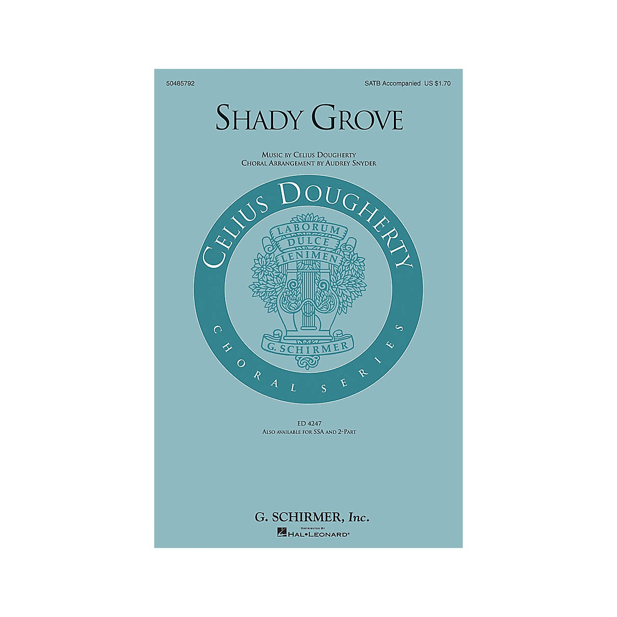 G. Schirmer Shady Grove 2-Part Arranged by Audrey Snyder
