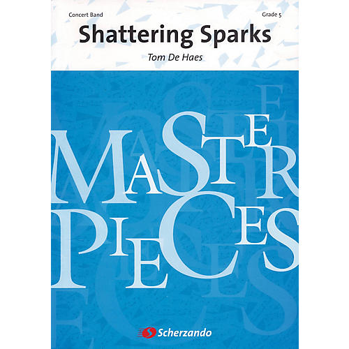 Scherzando Shattering Sparks Full Score Concert Band Level 5 Composed by Tom de Haes