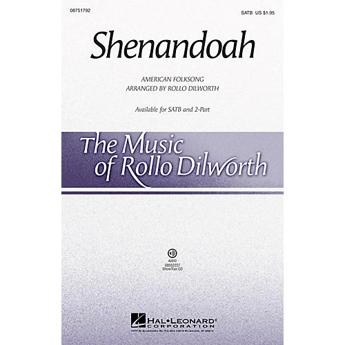 Hal Leonard Shenandoah SATB arranged by Rollo Dilworth
