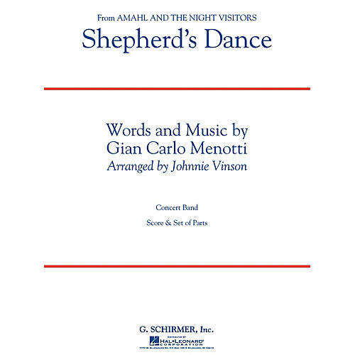 G. Schirmer Shepherd's Dance (from Amahl and the Night Visitors) Concert Band Level 3 by Menotti Arranged by Vinson