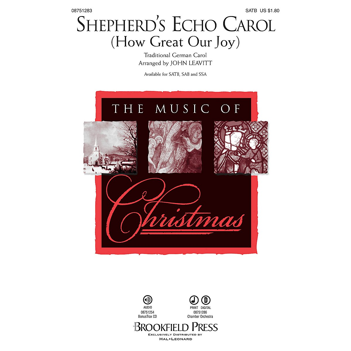 Brookfield Shepherd's Echo Carol (How Great Our Joy) SSA Arranged by John Leavitt